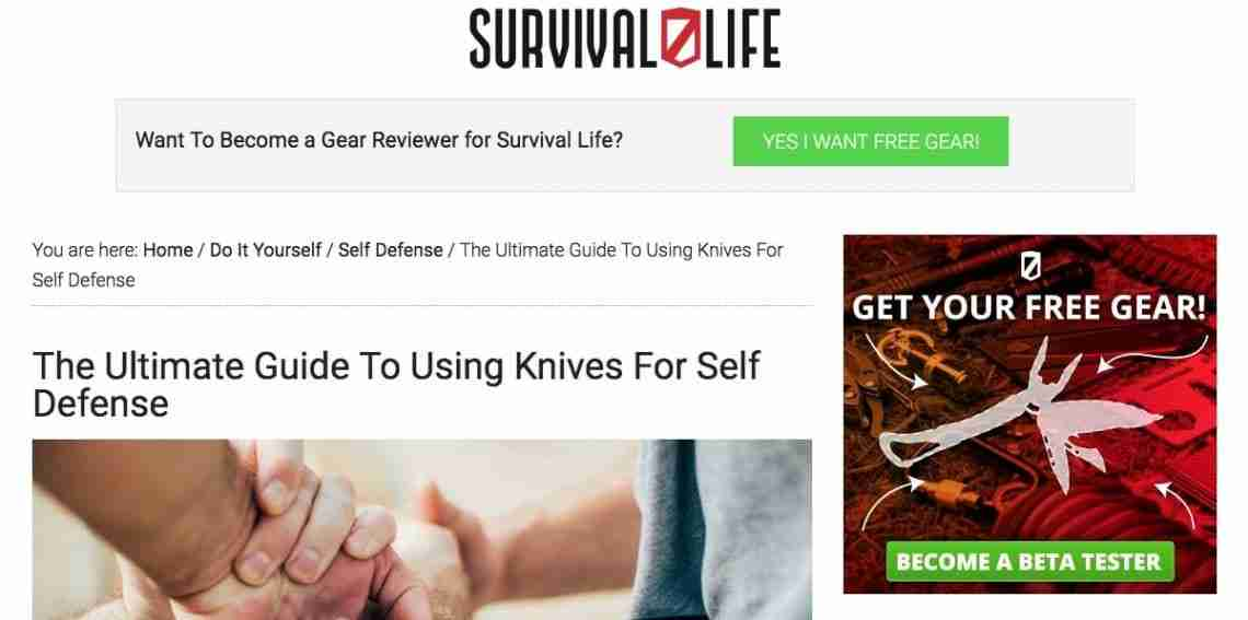 Survival Life - Affiliate Marketing Examples
