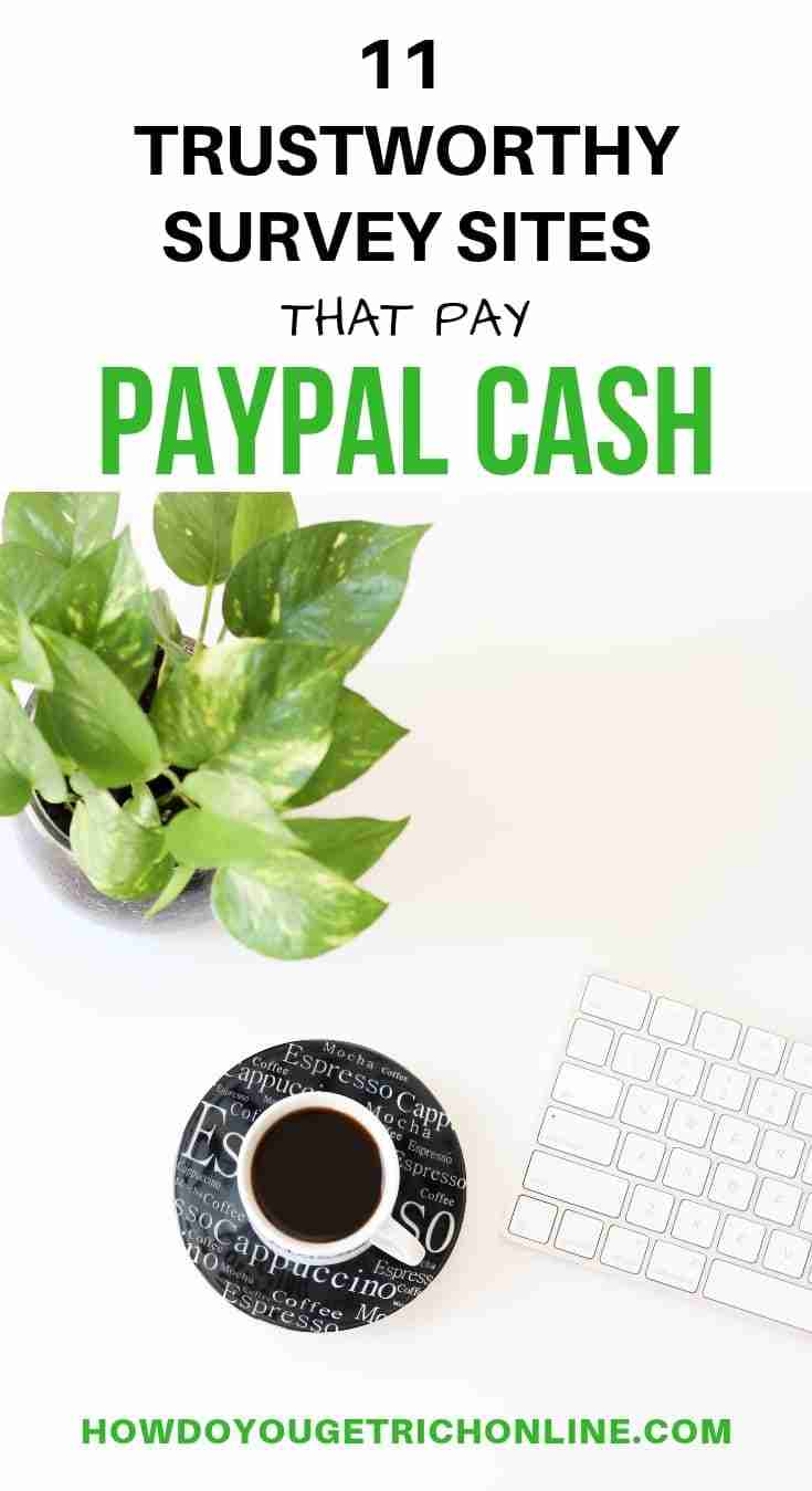 Legitimate Survey Sites for Paypal Cash