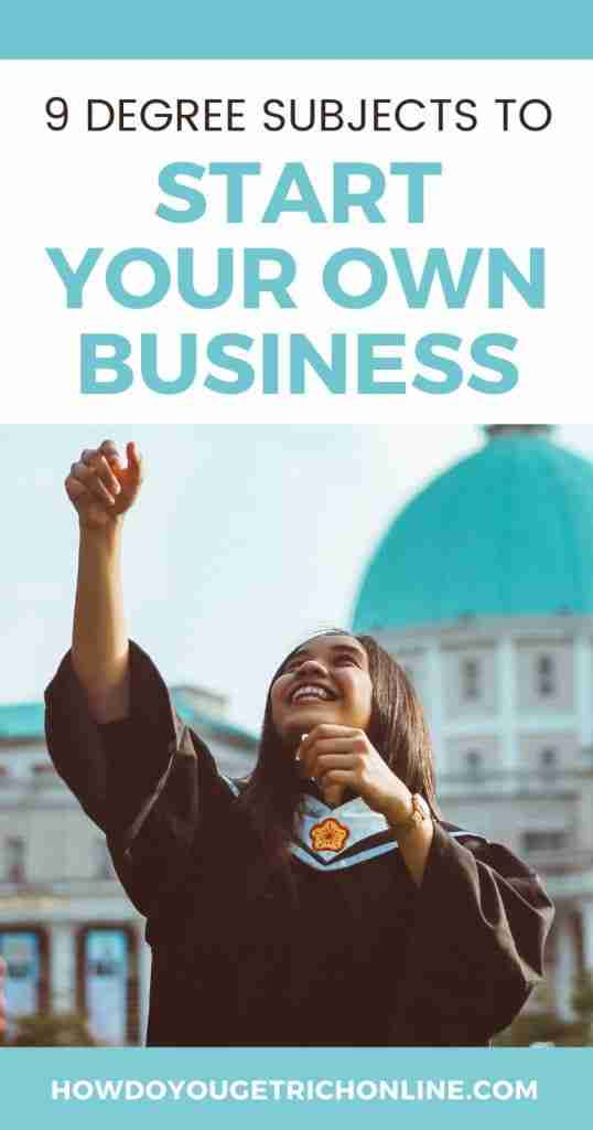 9 Subjects You Should Major In If You Want To Start Your Own Business. what should I major in if I want to start my own business.
