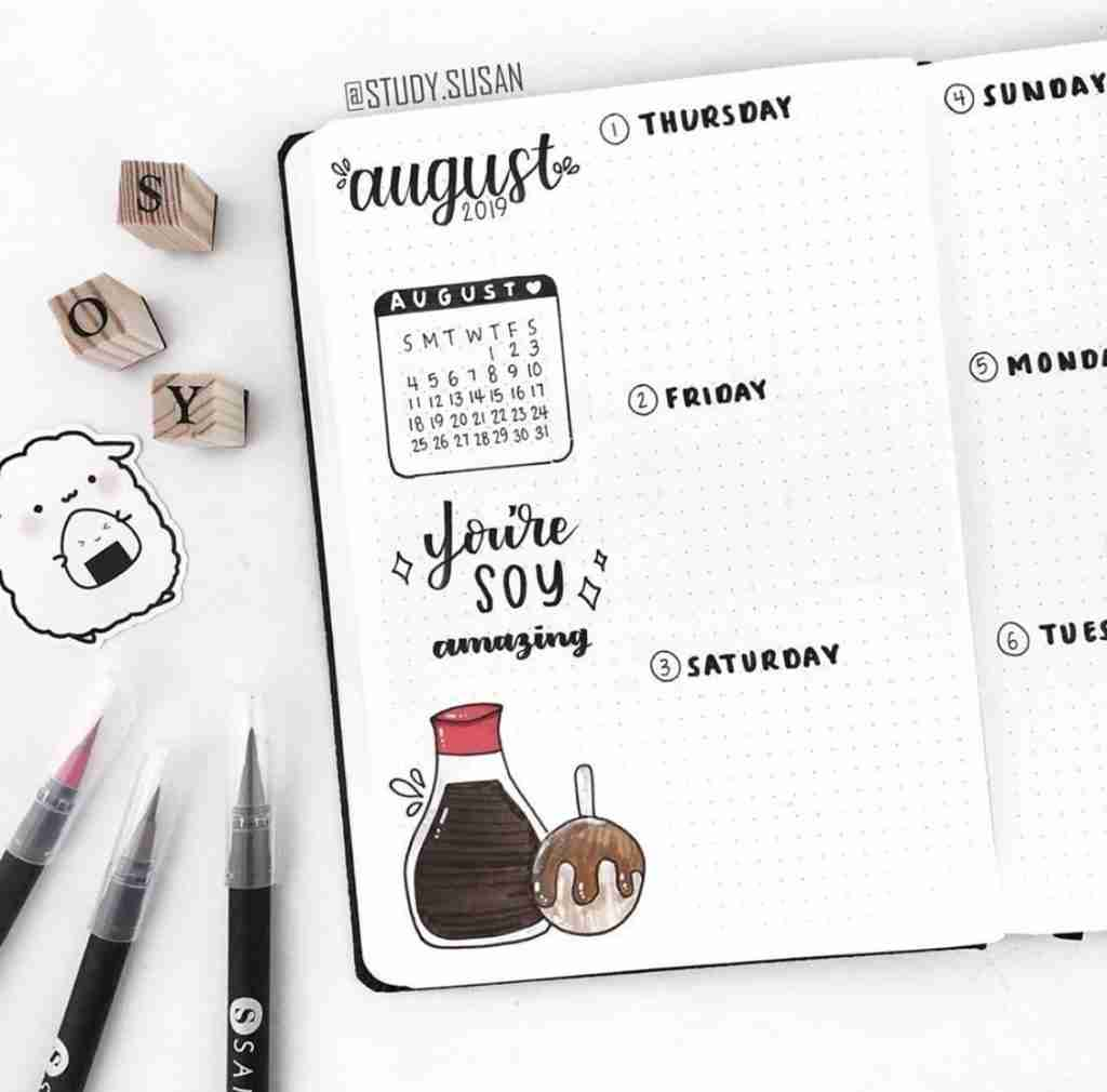 Bullet Journal Work Meetings and Events Calendar