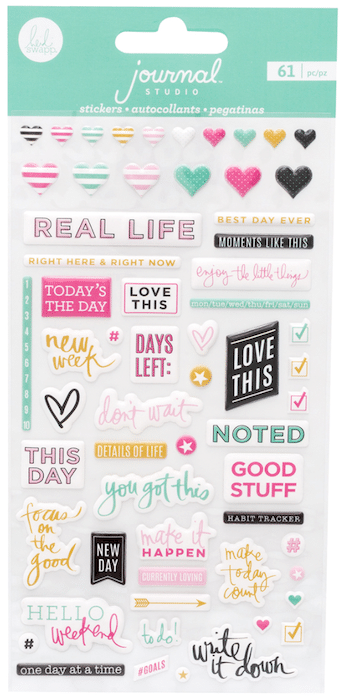 Heidi Swapp Journal Studio Puffy Stickers Good Stuff