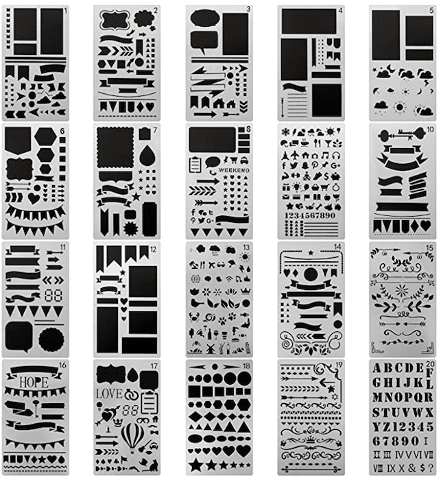 Ch Haicheng Journaling Stencil Set