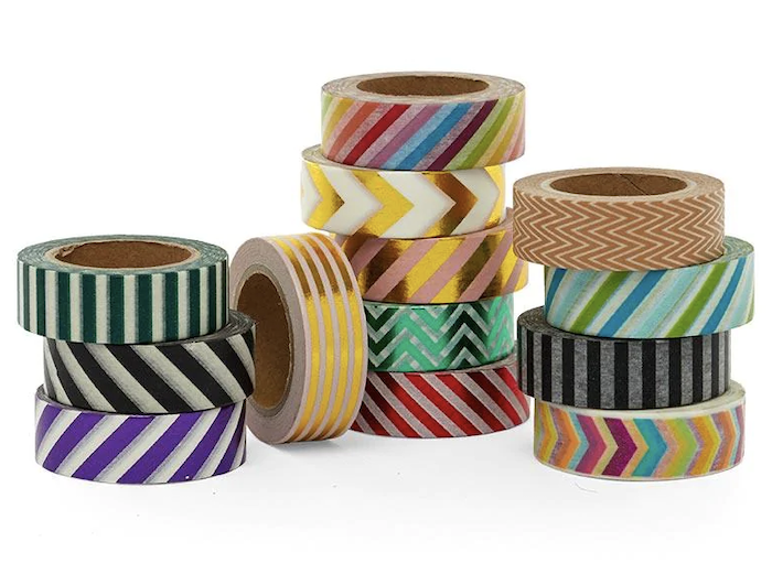 PaperMart Stripe & Chevron Patterned Washi Tape