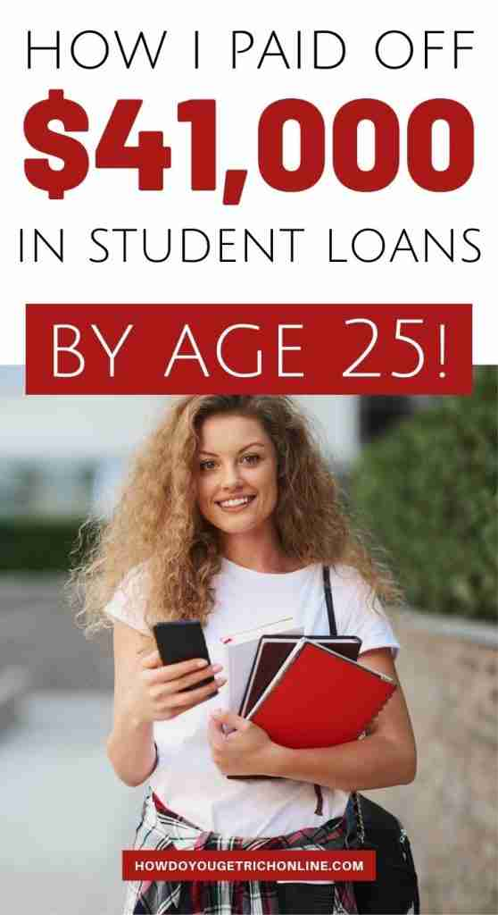 How to Pay Off Student Loans Fast! (I Fully Paid Off by Age 25). Discover how I paid off over $41,000 of student loans and personal debts by the age of 25! #Debt #PersonalFinance #StudentLoans