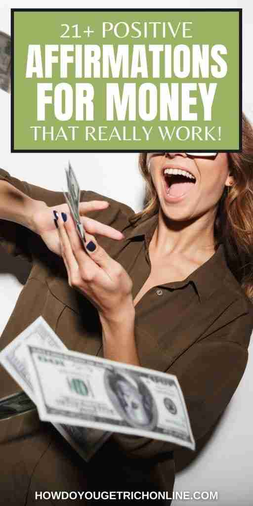Money Mantras: 21+ Positive Affirmations for Money That Really Work! That's right! 21 positive affirmations that will help you reach your financial goals and never worry about money again